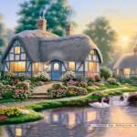 castorland-puzzel-1000-stuks-great-cottage-walkway-richard-burns-102761