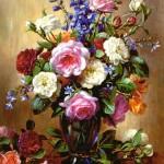 castorland-puzzel-1000-stuks-roses-in-a-blue-vase-102617