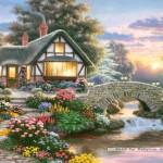 castorland-puzzel-1000-stuks-rustgevende-cottage-richard-burns-102815