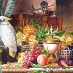 castorland-puzzel-3000-stuks-stilleven-met-fruit-en-kaketoe-josef-schuster-300143