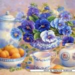 castorland-puzzel-500-stuks-abrikoos-en-blauwe-bloem-51465