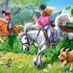 castorland-puzzel-70-stuks-paardrijden-021062