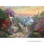 gibsons-puzzel-500-stuks-thomas-kinkade-huisje-aan-de-vuurtoren-g3063