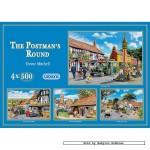 gibsons-puzzel-500-stuks-trevor-mitchell-the-postman-s-round-4x-g5005