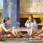 castorland-puzzel-1000-stuks-egyptische-schaak-spelers-alma-tadema-102778