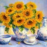 castorland-puzzel-2000-stuks-zonnebloemen-trisha-hardwick-200481