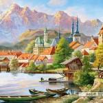 castorland-puzzel-4000-stuks-stadje-in-de-schaduw-van-de-bergen-400058