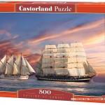 castorland-puzzel-500-stuks-zeilen-bij-zonsondergang-51892