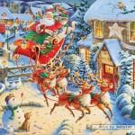 ravensburger-puzzel-1000-stuks-de-kerstman-in-zijn-arreslee-190232