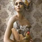 schmidt-puzzel-1000-stuks-woman-with-chicken-58167