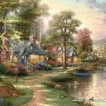 schmidt-puzzel-1500-stuks-thomas-kinkade-bij-het-meer-57452