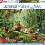 schmidt-puzzel-1500-stuks-tijgers-in-de-jungle-58188