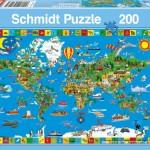schmidt-puzzel-200-stuks-de-wereld-op-een-kaart-56118