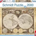 schmidt-puzzel-2000-stuks-historische-wereldkaart-58178