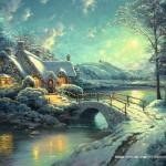 schmidt-puzzel-500-stuks-thomas-kinkade-winters-maanlicht-58453